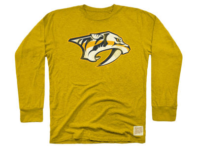 Nashville Predators Retro Brand NHL Men's Primary Mock Twist Long Sleeve T-Shirt