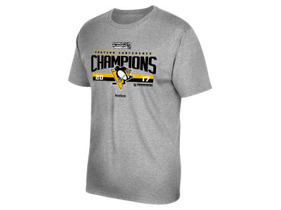 Pittsburgh Penguins Reebok 2017 NHL Men's Conference Champ Locker Room T-Shirt