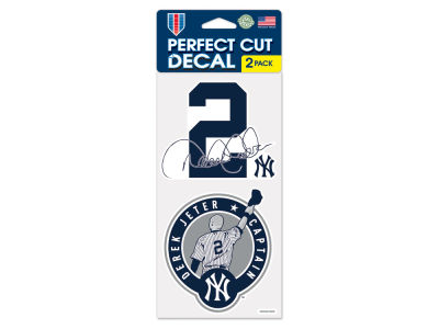 New York Yankees Derek Jeter Aminco 4x8 Die Cut Decal 2Pack