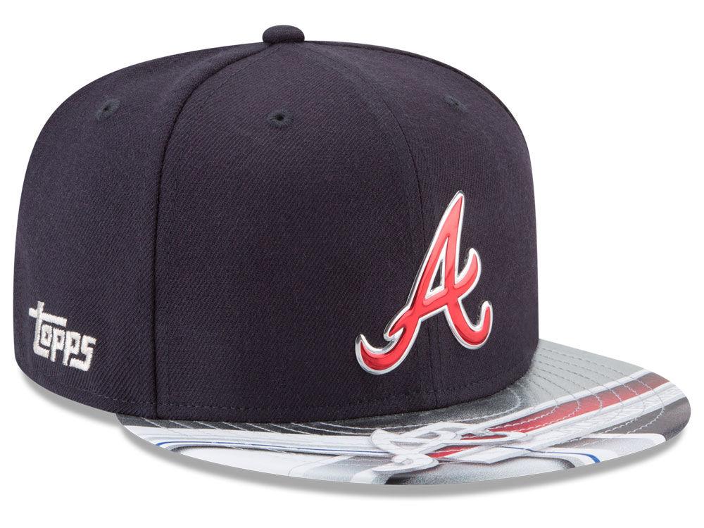 premium selection c79e8 2118f Atlanta Braves New Era MLB X Topps Chrome 9FIFTY Snapback Cap   lids.com