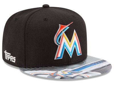 Miami Marlins New Era MLB X Topps Chrome 9FIFTY Snapback Cap