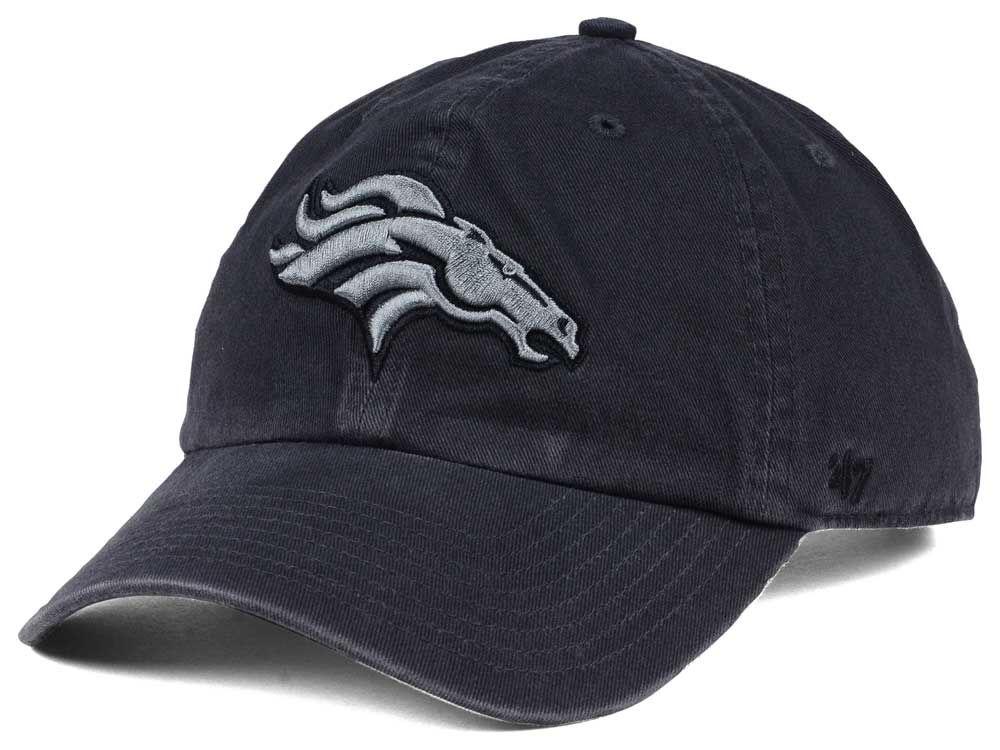 e9deee7dc13 Denver Broncos  47 NFL Dark Charcoal CLEAN UP Cap