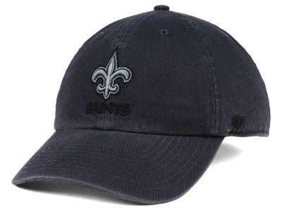 New Orleans Saints '47 NFL Dark Charcoal CLEAN UP Cap