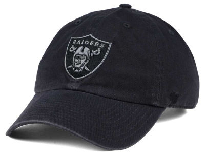 Oakland Raiders '47 NFL Dark Charcoal CLEAN UP Cap