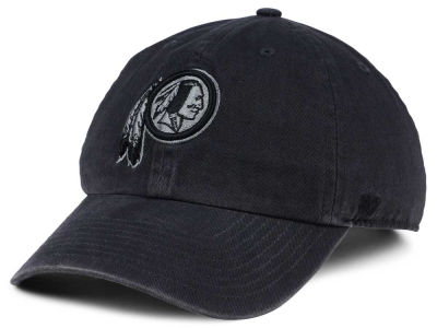 Washington Redskins  47 NFL Dark Charcoal CLEAN UP Cap e0d7b96653e