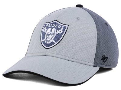 0b8ebc918f0 Oakland Raiders  47 NFL Greyscale Contender Flex Cap
