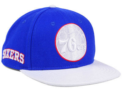 detailed pictures 1a456 0a559 ... clearance philadelphia 76ers pro standard nba team white strapback cap  e6fe5 26f46