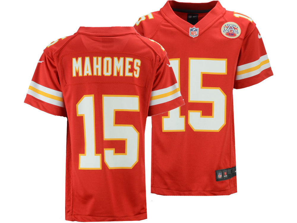 ac9c6f432 Kansas City Chiefs Pat Mahomes Nike NFL Youth Game Jersey