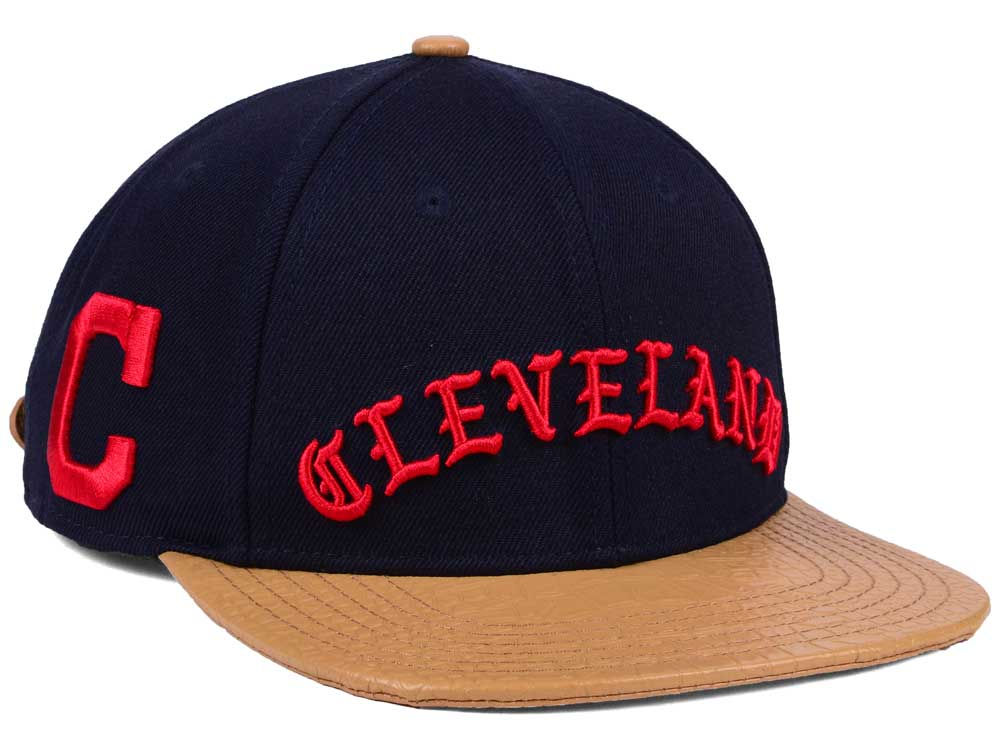 Cleveland Indians Pro Standard MLB Old English Strapback Cap  e2c62e8f979