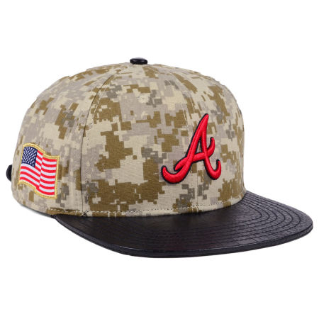 Atlanta Braves Pro Standard MLB Digi Camo Strapback Cap