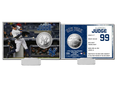 New York Yankees Aaron Judge Coin Card-Silver