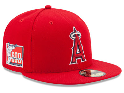 Los Angeles Angels New Era MLB Pujols 600th Patch 59FIFTY Cap