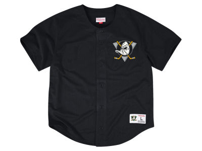 Pittsburgh Penguins Mitchell & Ness NHL Men's Seasoned Pro Mesh Front Button Jersey