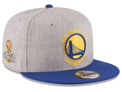 Golden State Warriors New Era 2017 NBA Heather 2Tone Finals Patch 9FIFTY Snapback Cap