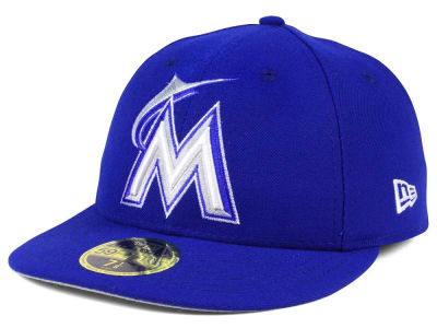 Miami Marlins New Era MLB Low Profile C-DUB 59FIFTY Cap