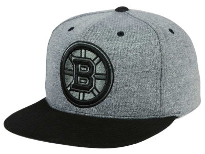 Boston Bruins adidas NHL Heather Snapback Cap
