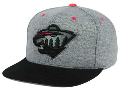 Minnesota Wild adidas NHL Heather Snapback Cap