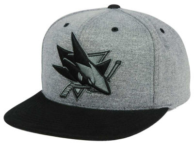 San Jose Sharks adidas NHL Heather Snapback Cap