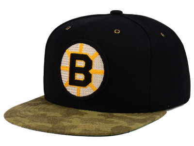 Boston Bruins adidas NHL Fashion Camo Snapback Cap