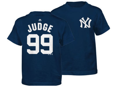 New York Yankees Aaron Judge Majestic MLB Kids Official Player T-Shirt