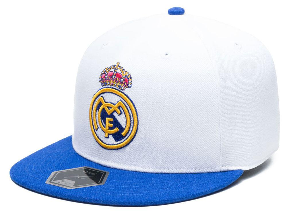 Real Madrid Fan Ink Club Team Fi Fitted Cap  28f4c311ddf