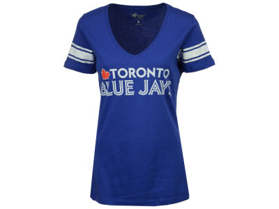 Toronto Blue Jays G-III Sports MLB Women's Glitter Baseball T-Shirt