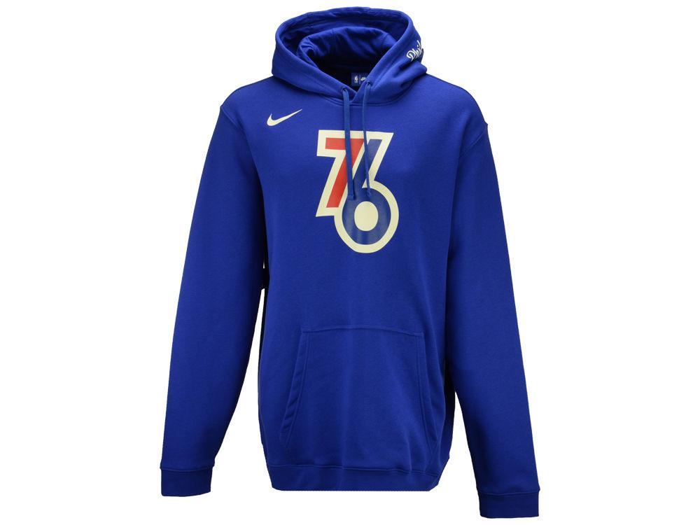 Philadelphia 76ers Nike 2017 NBA Men s City Club Fleece Hoodie ... ab4ae0d00