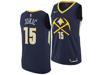 Denver Nuggets Nikola Jokic Nike NBA Men's 2017 City Swingman Jersey