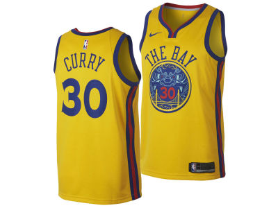 Golden State Warriors Stephen Curry Nike NBA Men's 2017 City Swingman Jersey