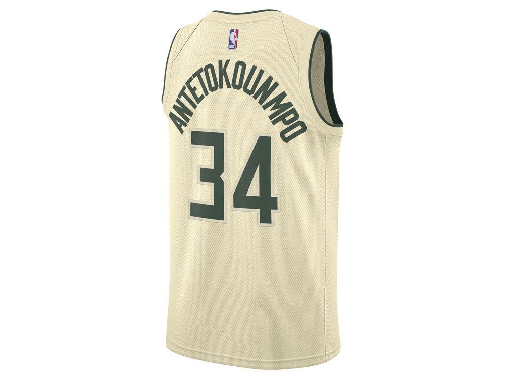 Milwaukee Bucks Giannis Antetokounmpo Nike NBA Men s 2017 City Swingman  Jersey  aeb6d8707