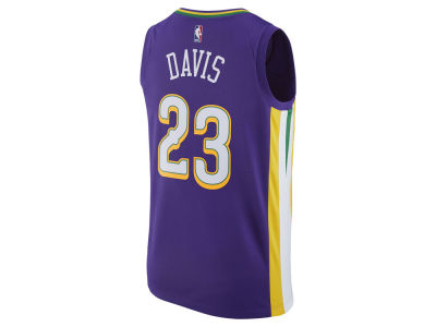 New Orleans Pelicans Anthony Davis Nike NBA Men's 2017 City Swingman Jersey