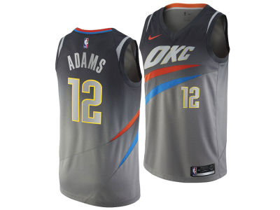 Oklahoma City Thunder Steven Adams Nike NBA Men's 2017 City Swingman Jersey