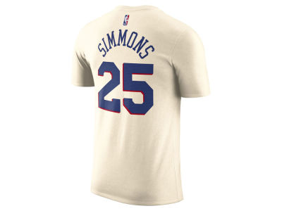 Philadelphia 76ers Ben Simmons Nike NBA Men's City Player T-Shirt