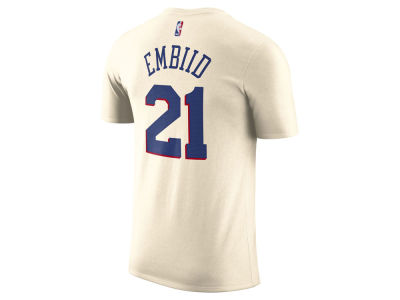Philadelphia 76ers Joel Embiid Nike NBA Men's City Player T-Shirt