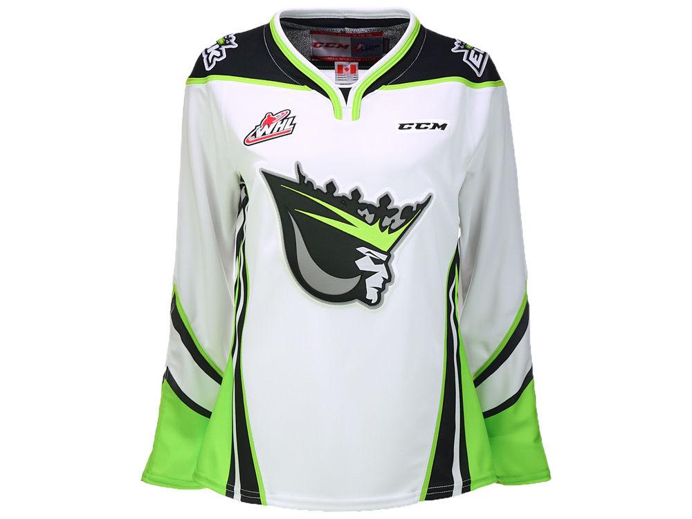 Edmonton Oil Kings Reebok WHL Women s Premier Jersey  5fe325763d3