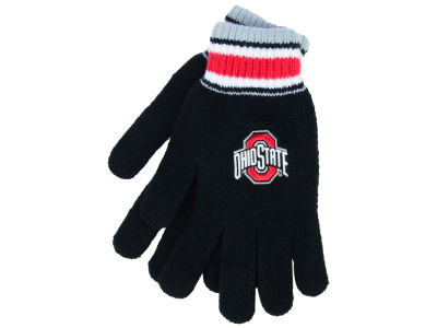 Ohio State Buckeyes Strip Knit Glove
