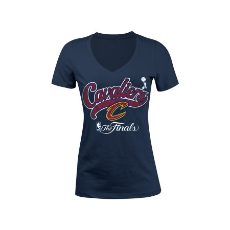 Cleveland Cavaliers 5th & Ocean 2017 NBA Women's Finals Participant Glitter T-Shirt