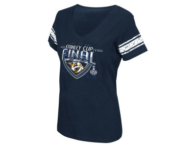 Nashville Predators 2017 NHL Women's Finals Participant Sleeve Stripe T-Shirt