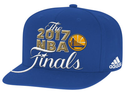 Golden State Warriors adidas 2017 NBA Conference Champ Secondary Snapback Cap