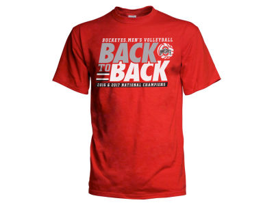 Ohio State Buckeyes J America 2017 NCAA Men's Volleyball Back to Back Champ T-Shirt