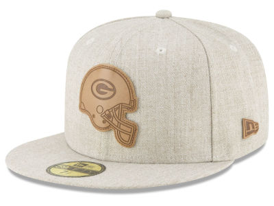 Green Bay Packers New Era NFL Heathered Helmet 59FIFTY Cap