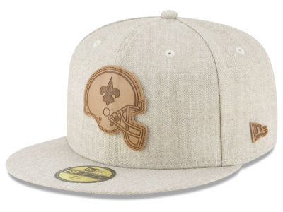 New Orleans Saints New Era NFL Heathered Helmet 59FIFTY Cap