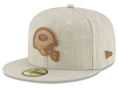 San Francisco 49ers New Era NFL Heathered Helmet 59FIFTY Cap