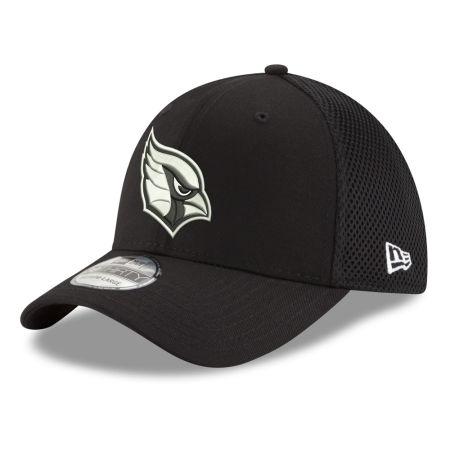 Arizona Cardinals New Era NFL Black & White Neo 39THIRTY Cap