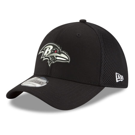Baltimore Ravens New Era NFL Black & White Neo 39THIRTY Cap