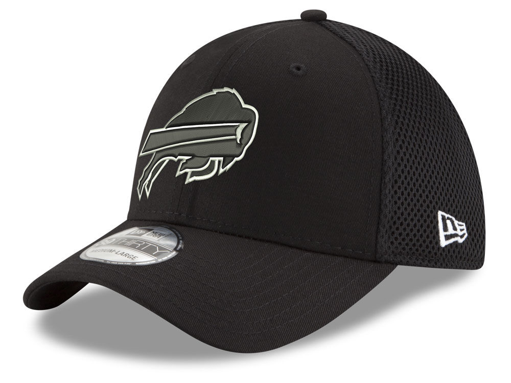 Buffalo Bills New Era NFL Black   White Neo 39THIRTY Cap  3373ff5470a