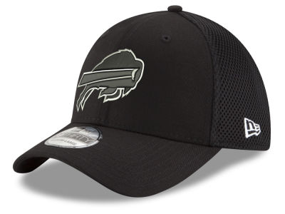 Buffalo Bills New Era NFL Black & White Neo 39THIRTY Cap
