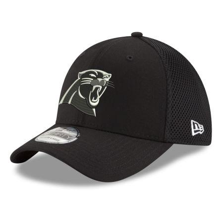 Carolina Panthers New Era NFL Black & White Neo 39THIRTY Cap