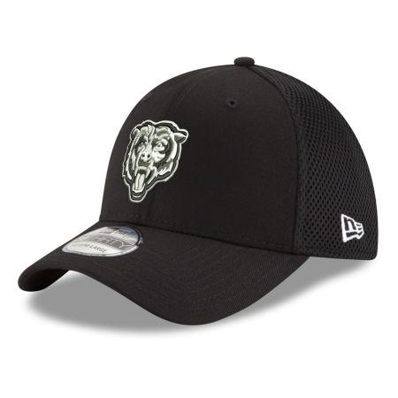 Chicago Bears New Era NFL Black & White Neo 39THIRTY Cap