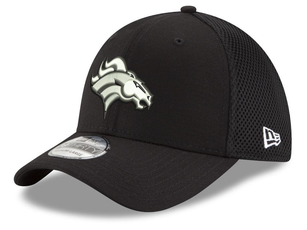 4a8a1e19d Denver Broncos New Era NFL Black   White Neo 39THIRTY Cap
